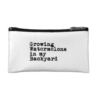 Growing Watermelons Cosmetic Bag