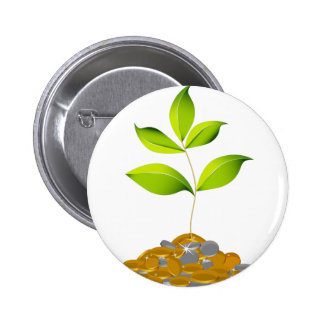 Growing Wealth Plant Icon Button