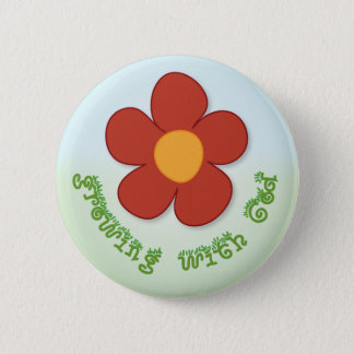 Growing with God button