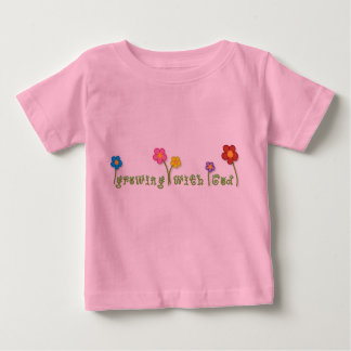 Growing with God Christian baby tee