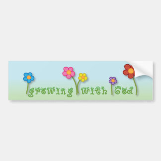 Growing with God Christian bumper sticker