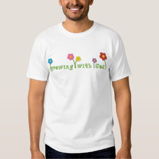 Growing with God Christian organic children's tee