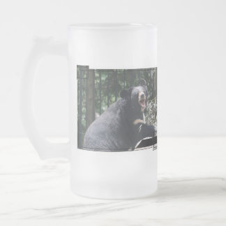 Growling Bear Frosted Beer Mug