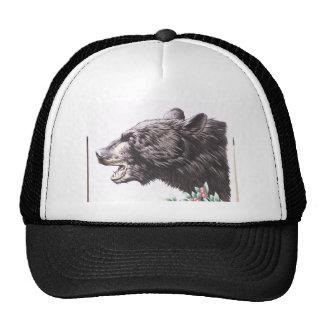Growling Black Bear with Berries Trucker Hat