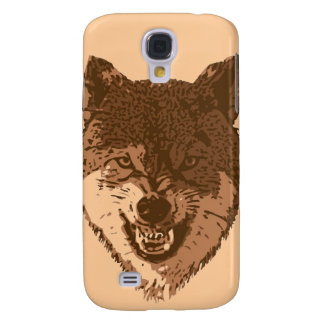 Growling brown wolf samsung galaxy s4 cover