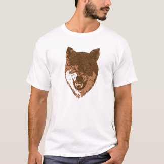 Growling brown wolf T-Shirt