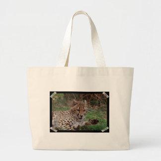Growling Cheetah Tote Bag