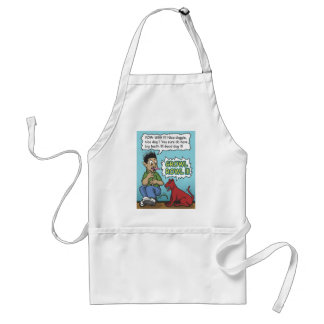 growling dog adult apron