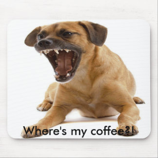Growling dog mouse pad