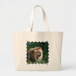 Growling Lion Canvas Print Canvas Bags