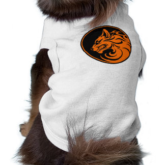 Growling Orange and Black Wolf Circle Pet Clothing