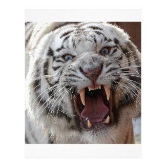 Growling White Tiger Letterhead