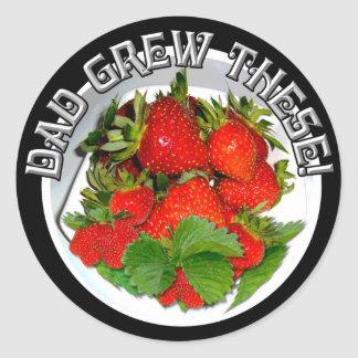GROWN BY DAD!  ~ Stickers