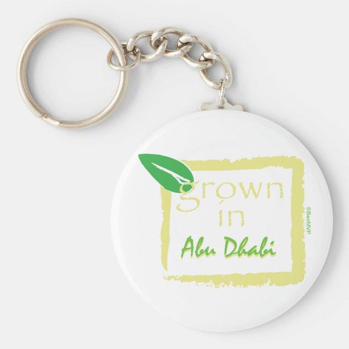 Grown in Abu Dhabi Key Chain