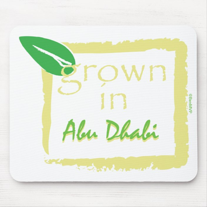 Grown in Abu Dhabi Mouse Pad