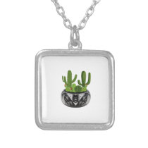 GROWN IN BEAUTY SILVER PLATED NECKLACE
