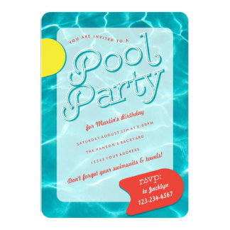Grown Up Pool Party Invitation