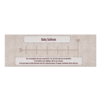 Growth Chart For Moms To Be w/ Motivational Quote Poster