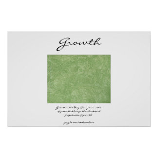 Growth - Feng Shui Green Poster