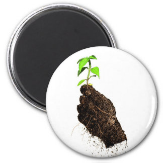 Growth in Hand 2 Inch Round Magnet
