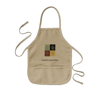 Growth is a good thing. kids' apron