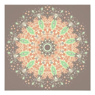 "Growth Mandala 5.25"" Square Invitation Card"