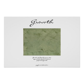 Growth - Power Green - Feng Shui Poster