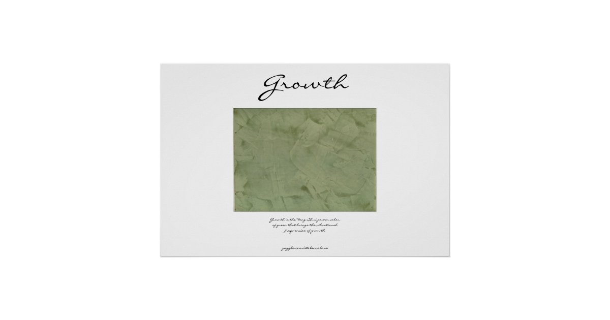 Growth power green feng shui poster zazzle for Posters feng shui