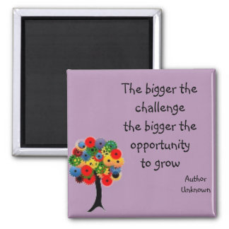 """Growth"" Quote Magnet Purple / Avalon Media"