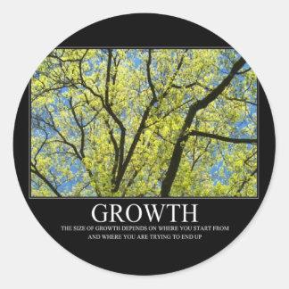 Growth Round Sticker