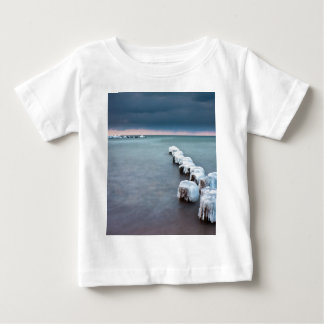Groyne in winter on shore of the Baltic Sea Baby T-Shirt
