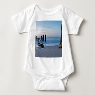 Groyne on the Baltic Sea coast Baby Bodysuit