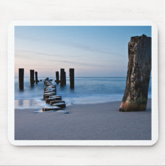 Groyne on the Baltic Sea coast Mouse Pad
