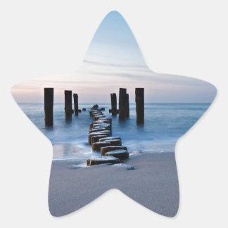 Groyne on the Baltic Sea coast Star Sticker