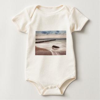 Groynes and stones on the Baltic Sea coast Baby Bodysuit