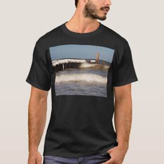 Groynes in winter on shore of the Baltic Sea T-Shirt