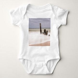 Groynes on shore of the Baltic Sea Baby Bodysuit