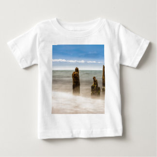 Groynes on shore of the Baltic Sea Baby T-Shirt