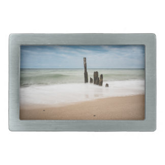 Groynes on shore of the Baltic Sea Belt Buckle