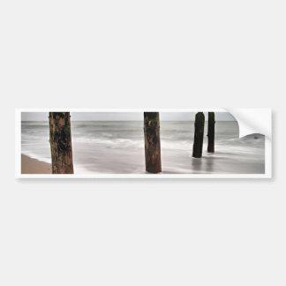 Groynes on shore of the Baltic Sea Bumper Sticker