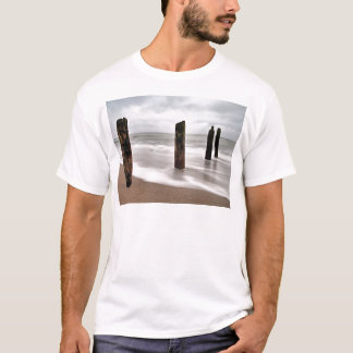 Groynes on shore of the Baltic Sea T-Shirt