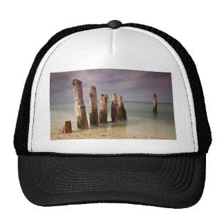 Groynes on shore of the Baltic Sea Trucker Hat