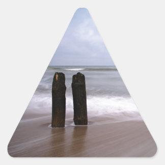 Groynes on the Baltic Sea coast Triangle Sticker