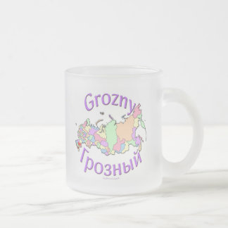 Grozny Russia Frosted Glass Coffee Mug