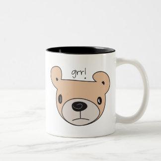 Grr! Bear Two-Tone Coffee Mug