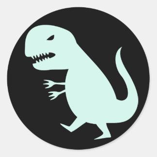Grr Dinosaur Classic Round Sticker