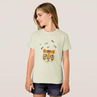 Grr Tiger Cute Emoji T-Shirt