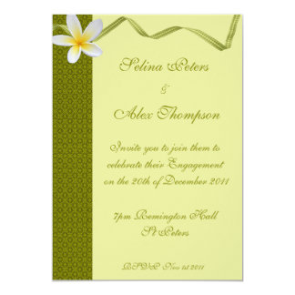 Grren Ribbon  Engagement Invitation