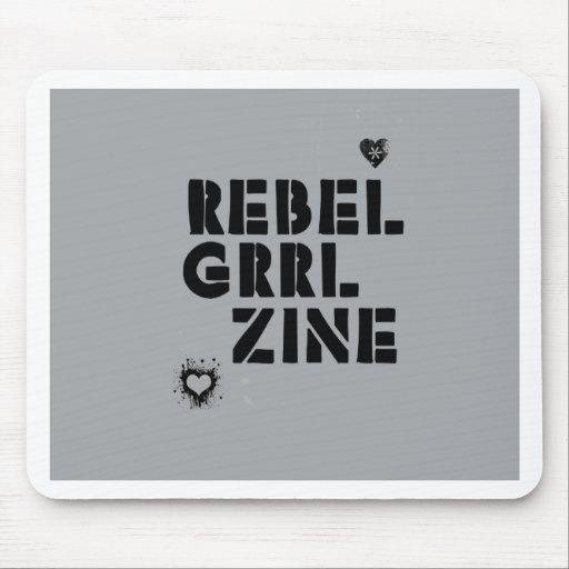 Grrl rebelde Zine Alfombrillas De Ratón