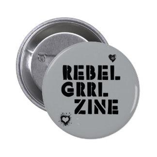 Grrl rebelde Zine Pin Redondo De 2 Pulgadas